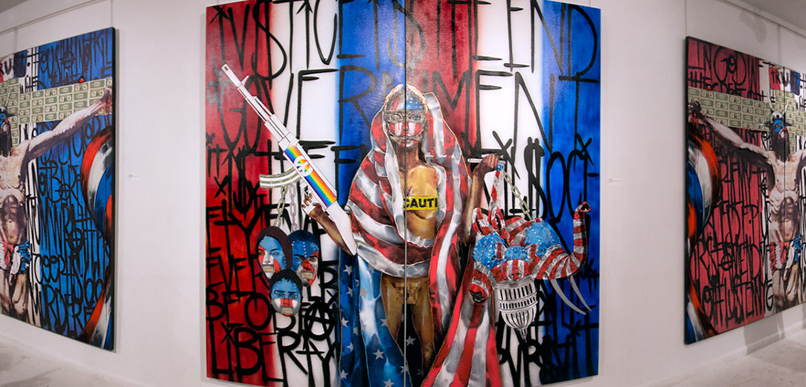 Macaya Gallery Presents American Banned: Works by Chor Boogie, Ashely Reid and Stuart Sheldon